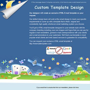 Email Template: Cosmos Cartoon