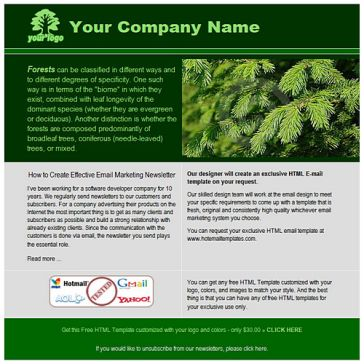 Email Template: Dark green