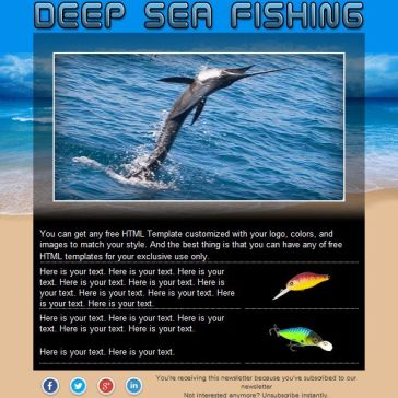 Email Template: Deep sea