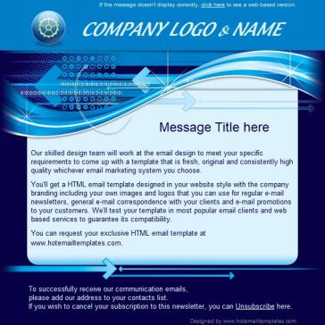 Email Template: Digital Blue