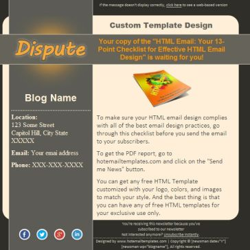 Email Template: Dispute