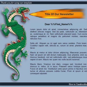 Email Template: Dragon