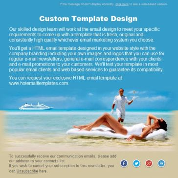 Email Template: Dream Cruise