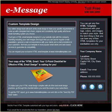Email Template: e_Message
