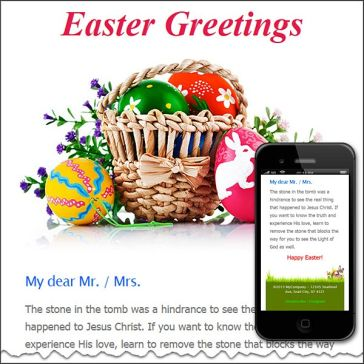 Email Template: Easter greetings