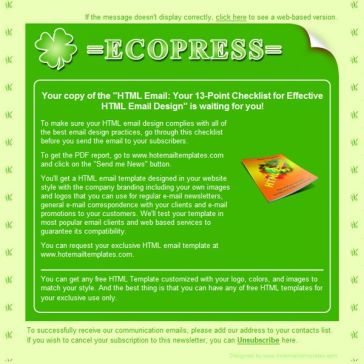 Email Template: EcoPress