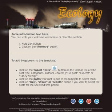 Email Template: EcoWar