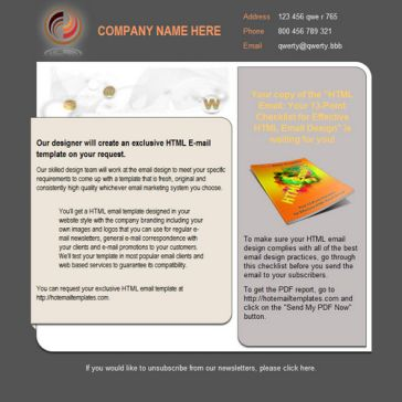 Email Template: Elegant look