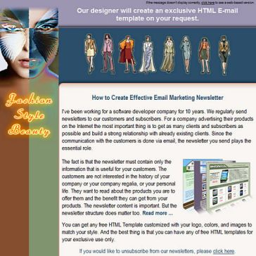 Email Template: Fashion Stule Beauty