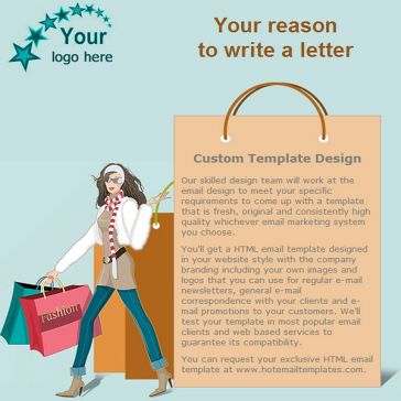 Email Template: Time for shopping