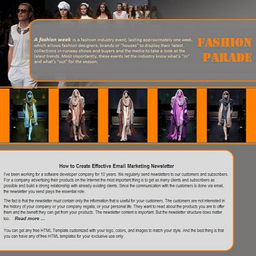 Email Template: Fashion Parade