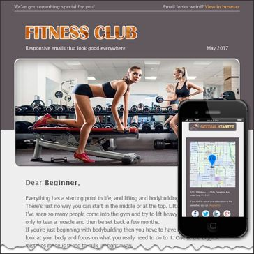 Email Template: Fitness Club