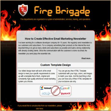 Email Template: Fire Brigade