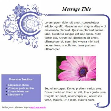 Email Template: Flower Art