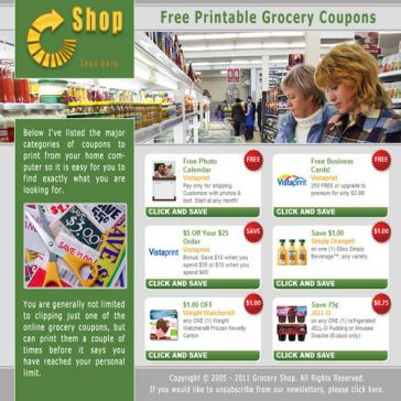 Email Template: Free coupons