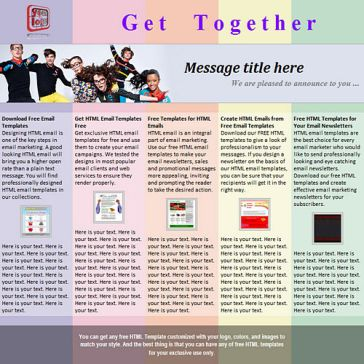 Email Template: Get together