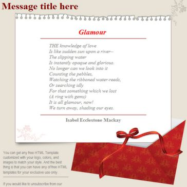 Email Template: Glamour