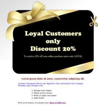 Email Template: Discount Card