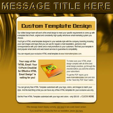 Email Template: Golden wave