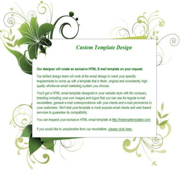 Email Template: Green grass