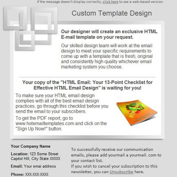 Email Template: Gray square