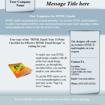 Email Template: Gray sticker