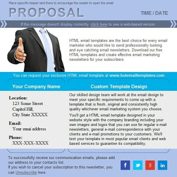 Email Template: Great proposal
