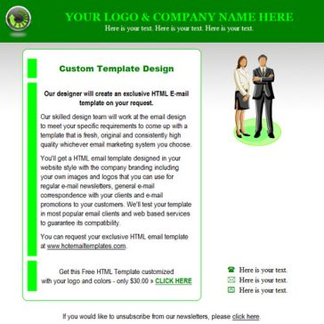 Email Template: Green Box
