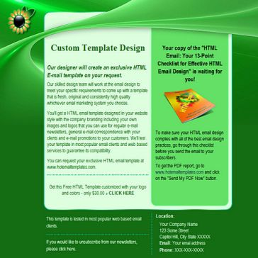 Email Template: Green Life