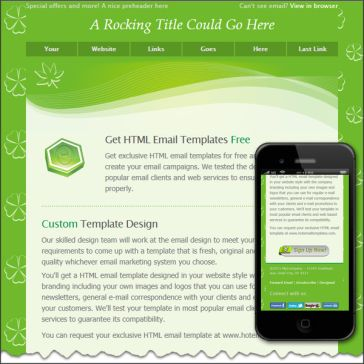 Email Template: Green line