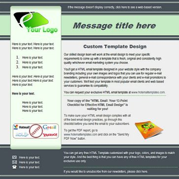 Email Template: Green lines