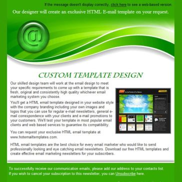 Email Template: Green wave