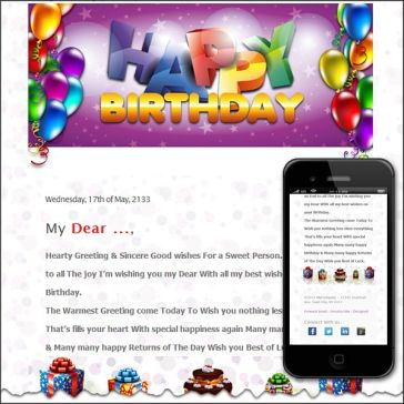 Email Template: Happy Birthday to You