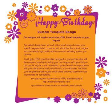 Happy birthday free html e mail templates email template happy birthday stopboris Images