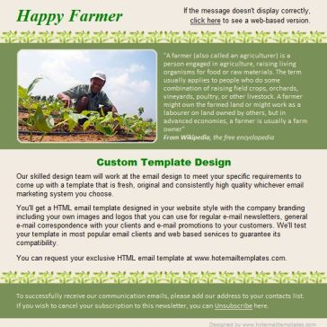 Email Template: Happy farmer