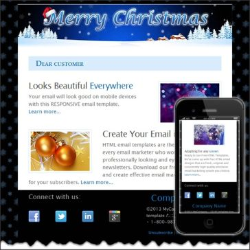 Email Template: holiday 2014