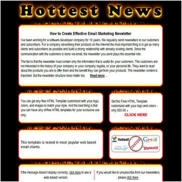Email Template: Hottest News