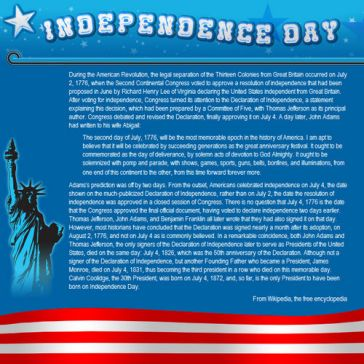 Email Template: Independence Day