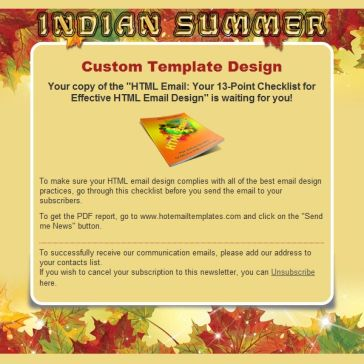 Email Template: Indian summer