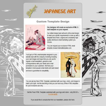 Email Template: Japanese art