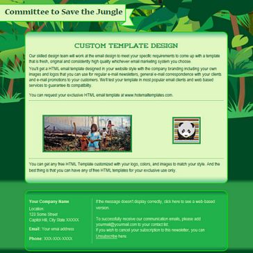 Email Template: Jungle
