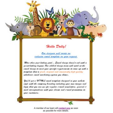Email Template: Wild kids