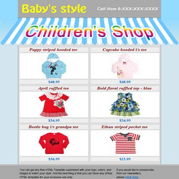 Email Template: Children store