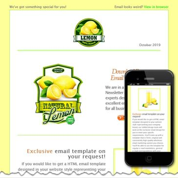 Email Template: Lemon
