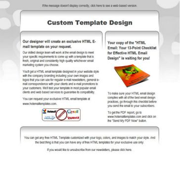 Email Template: Light gray