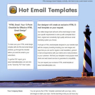 Email Template: Lighthouse
