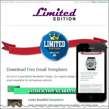 Email Template: Limited