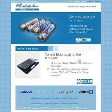 Email Template: Marketplace