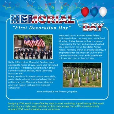 Email Template: Memorial Day