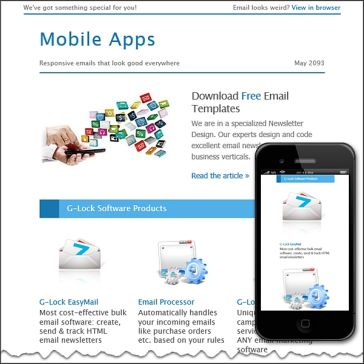 Email Template: Mobile APPS